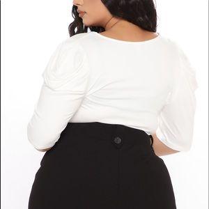 White bodysuit- WORN ONCE
